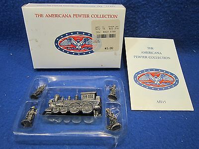 Set Of 5 Americana Ah45 Collection Pewter Miniature Toy Figurines 1993 In Box