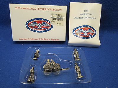 Set Of 5 Americana Ah18 Collection Pewter Miniature Toy Figurines 1992 In Box