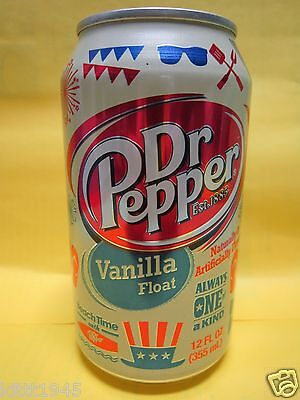 Rare Dr Pepper Vanilla Float Limited Edition 12 Ounce Full Can Pepsi On Label