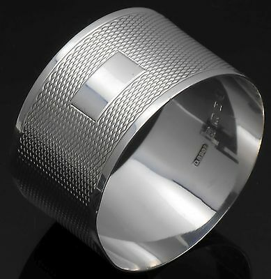 Sterling Silver Napkin Ring - No Initials - Birmingham 1935