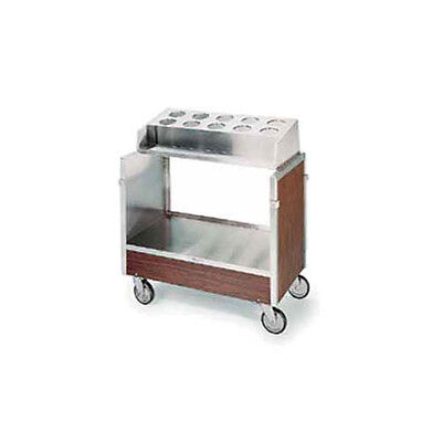 Lakeside 603 Stainless Steel Angle Frame Tray & Silver Cart