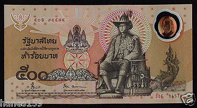 THAILAND (P101a) 500 Baht ND(1996) UNC sign. 66 COMM. POLYMER