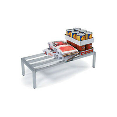 """Lakeside 9082 20""""Dx60""""Wx12""""H Welded Aluminum Dunnage Rack"""