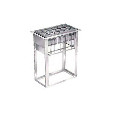 Lakeside 973 Open Frame Stainless Steel Tray & Glass Rack Dispenser