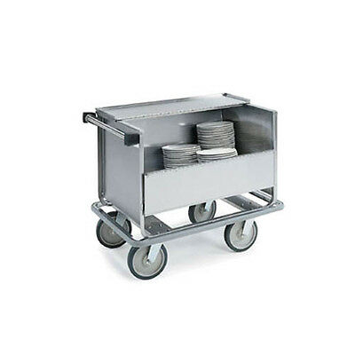 """Lakeside 39-1/2""""x24""""x31-1/2"""" Stainless Steel Store N Carry Dish Truck - 707"""