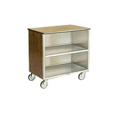 "Lakeside 646 22""x36""x36-5/8"" Stainless Steel Enclosed Bussing Cart"