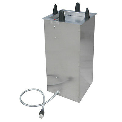 """Lakeside S6012 11-1/2"""" to 12"""" Heated Drop-in Square Dish Dispenser"""