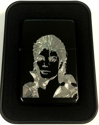 Michael Jackson Black Engraved Cigarette Gift Lighter LEN-0184