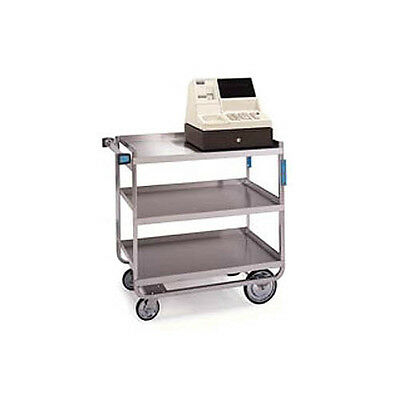 "Lakeside 22-3/8""x38-5/8""x37-1/8"" Stainless Steel Welded Utility Cart - 544"