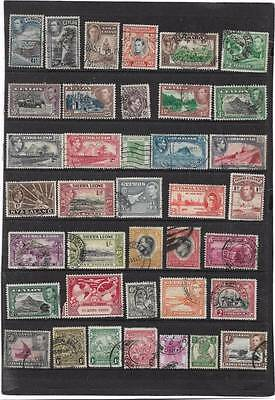 Old British Empire King George Vi Used Collection