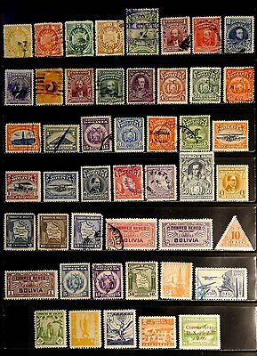 Bolivia: Classic Era Stamp Collection