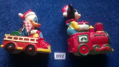 Vintage Mickey Mouse And Donald Duck Xmas Toys / Decorations Walt Disney  (D92)