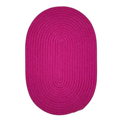 Boca Raton Indoor Outdoor Oval Braided Rug, Magenta BR70 ~ Made in USA