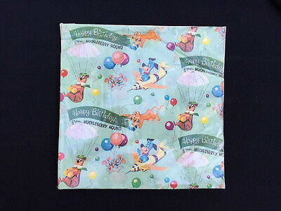 Vintage 1960s Huckleberry Hound Gift Wrap Wrapping Paper Package Juvenile