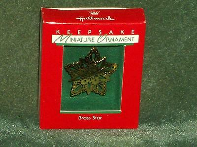 Hallmark 1988 Brass Star - Miniature Ornament - NEW