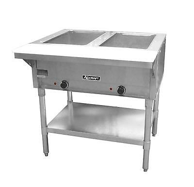 Adcraft ST-120/2 Commercial 2 Well 120v  Electric Steam Table w Cutting Board