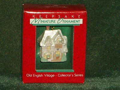 Hallmark 1988 Old English Village - 1st in Series - Miniature Ornament - NEW