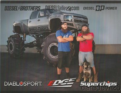 2016 The Diesel Brothers DiabloSport Chevy SEMA Show Promo info card