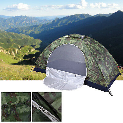 1&2 Person Outdoor Foldable Tent Camping Hiking Travel Camouflag Waterproof New