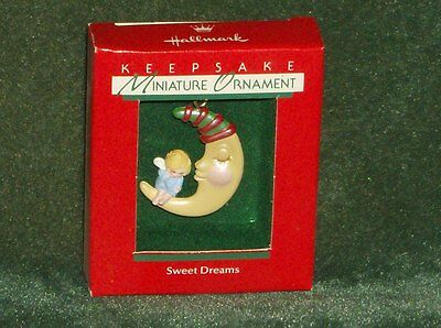 Hallmark 1988 Sweet Dreams - Miniature Ornament - NEW