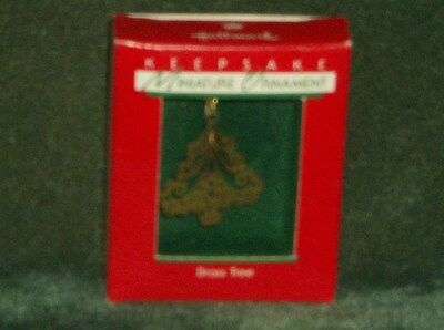 Hallmark 1988 Brass Tree - Miniature Ornament - NEW