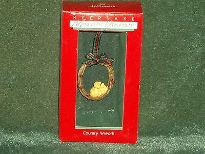 Hallmark 1988 Country Wreath - Miniature Ornament - NEW
