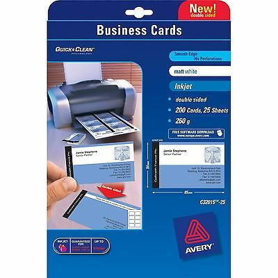 avery dennison zweckform offic Avery Business Cards Double Sided Matt C32015...