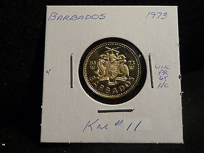 Barbados: 1973   5 Cents  Coin  Proof  Hc.   (Unc.)    (#3849)  Km # 11