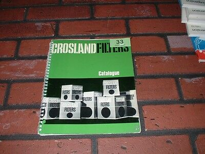 Genuine Crossland Filters Parts Catalogue.1950's To 1980's Cars , Commercials ,