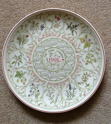 """The Herb Garden * Wedgwood plate * 1991 * 10"""" diameter * Perfect condition"""