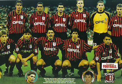 Ac Milan Football Team Photo 1999-00 Season