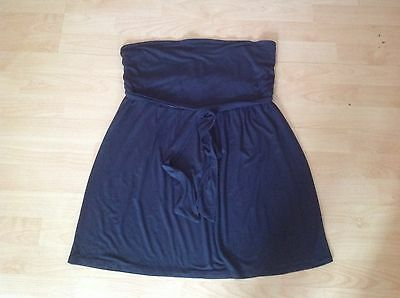 COCOON MATERNITY Gorgeous Blue Jersey Knee Length Skirt 12 - 14 SUPER CONDITION