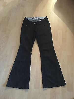 NEXT MATERNITY Trendy Dark Blue Kick Flare Jeans 10 Leg 30.5 SUPERB CONDITION