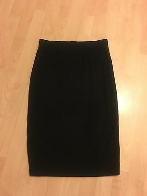 TOPSHOP MATERNITY Gorgeous Black Jersey Pencil Skirt 8 SUPERB CONDITION