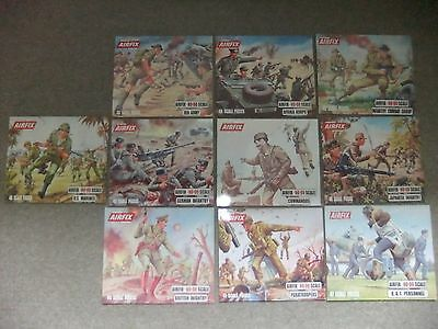 Airfix HO-OO Boxtop display prints x 10.8th Army, Afrika Corps, Paratroopers etc