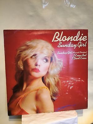 """BLONDIE -  SUNDAY GIRL + French Edit /I KNOW BUT I DON'T KNOW -12"""" SINGLE-Vinyl"""