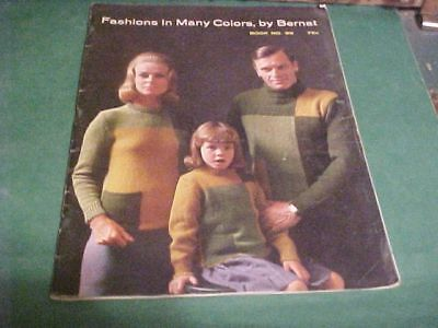 1961 Knitting Bernat Booklet Fashions In Many Colors