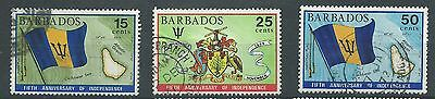 Barbados - 1971 - SG437 To SG439 - CV £ 1.80 - used - Independence