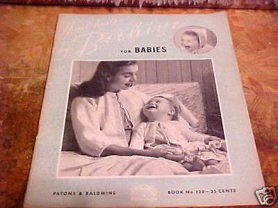 1945 Hand Knits By Beehive For Babies Paton & Baldwins
