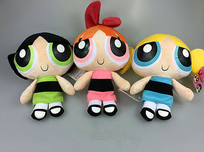 "9"" Powerpuff Girls Doll The Cartoon Network Plush Toy Kids Toy Doll Set Gift"