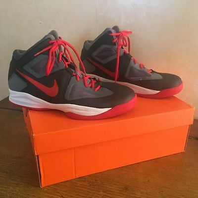 Nike Zoom Born Ready Basketball Shoes Hi Top  Uk 9 Black/red Cool Gray  61022900