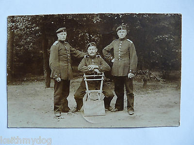 Early vintage German military Photograph(RPPC)-3 Young Soldiers in 1906