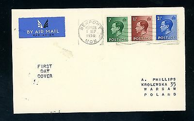 1936 Edward VIII  First Day Cover  1 Sept   (J991)