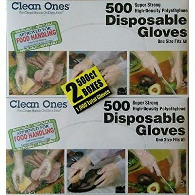 Clean ones Disposable Gloves (1000 Count) New