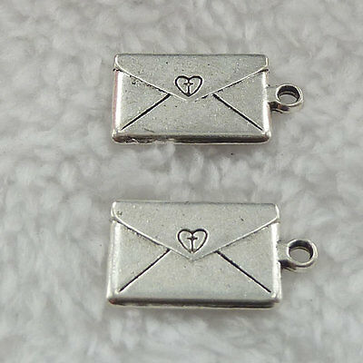 Free Ship 132 pieces tibet silver envelope charms 22x12mm #326