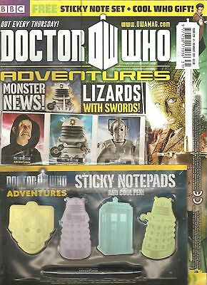 DOCTOR WHO ADVENTURES #229, August 2011 - FREE! STICKY NOTE SET + COOL WHO GIFT!