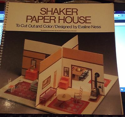 Shaker Paper House by Evaline Ness to Cut Out and Color