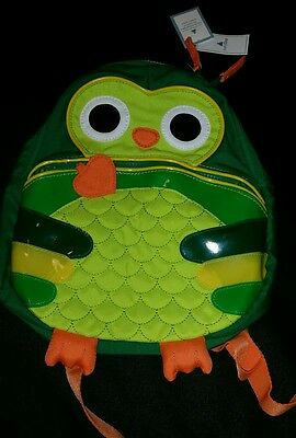 Nwt Baby Gap Owl Green Backpack 2 3 4 5 Treehouse New Rare