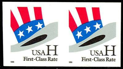 "3265a, Mint NH ""H"" Stamp - Scarce imperforate coil pair Cat $65.00 - Stuart Katz"