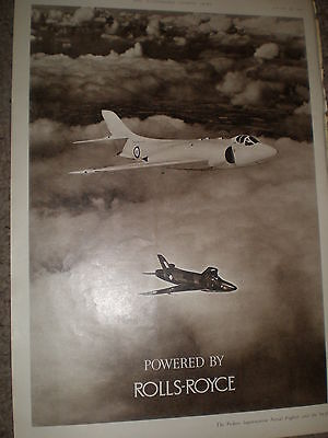 Vickers Supermarine and Swift aircraft Rolls-Royce advert 1955 ref Z